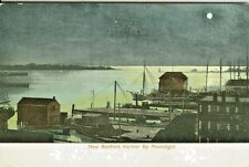 New Bedford MA  The New Bedford Harbor under the 1909 Moonlight