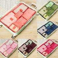 6Pcs Travel Storage Bag Set for Clothes Luggage Packing Cube Organizer Suitcase