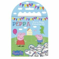 Peppa Pig Carry Along Colouring Set Crayons Picture Book Travel George Kit