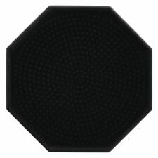 "Hubert Drip Tray Octagonal Black Silicone - 4"" Dia"