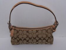 Coach Womens Handbag A06W-6044 Small Purse Great Used Condition Brown