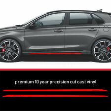 Fits Hyundai i30N i30 N Performance  Sill Stripe sticker decal 10Year Cast Vinyl