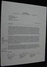 NIRVANA KRIST NOVOSELIC SIGNED JAMPAC LETTER TO EDDIE VEDDER PEARL JAM RARE COOL