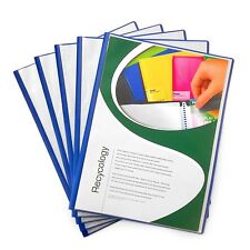 """A4 Display Books Project Folder 10 Pockets - """"Pack of 5"""" - by Pentel - Dark Blue"""