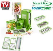 Genius Nicer Dicer Magic Cube + XXL-Messereinsätze + Kombi-Set mit Reibe 19 tlg