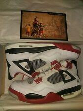 Nike Air Jordan IV 4 Mars sz 8 2006 White/Varsity Red/Black 3 4 5 6 7 8 11 12 13