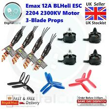 4x Emax 12A BLHeli ESC + 4x 2204 2300KV Motor Brushless CW CCW Prop - Quadcopter