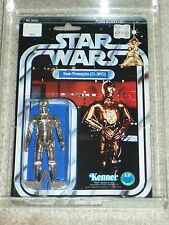 Vintage Star Wars KENNER 1978 AFA 80/80/85 C-3PO ANH 12 BACK-B MOC CLEAR BUBBLE!