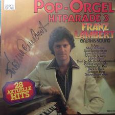 Franz Lambert Pop Orgel Hitparade 3 mit Signatur Autogramm - LP Vinyl F1