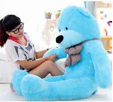 New 55''Giant hung big TEDDY BEAR blue PLUSH SOFT STUFFED Gift free EMS shipping