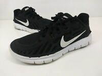 Nike Free 5.0 Youth Boys Running Shoes 725106-001 Black White Size 1Y