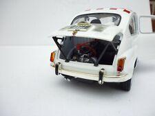 1/18 SOLIDO FIAT ABARTH  850 TC  1961 IN WHITE RED ROOF NO BOX RARE!!!