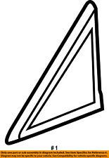 CHRYSLER OEM Exterior-Applique Window Trim Right 1BE421XFAB