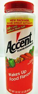 Large 32 oz Accent Flavor Enhancer seasoning kosher meat vegetables ~New Package