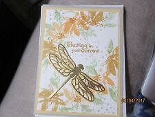 Stampin Up With Sympathy card handmade - Dragonfly