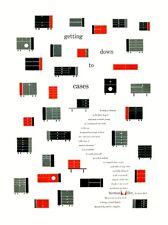 Mediados de siglo 1950 de George Nelson Herman Miller Publicidad A3 de arte cartel impresión