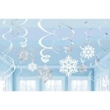 Snowflakes Frozen Hanging Swirl Decorations ~ Holiday & Birthday Party Supplies