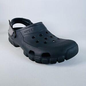 Crocs Classic All Terrain Clogs Shoes Men 10, W12 Adjustable GrayStrap Croslite