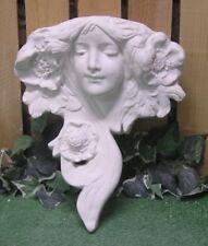 Female Art Nouveau Wall  Pocket Sconce Latex Fiberglass Production Mold Concrete