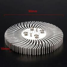 Round Spiral Aluminum Heat Sink Radiator 90x10mm For 10W High Power LED Lamp New
