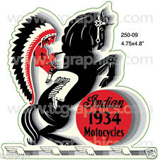 INDIAN 1934 MOTORCYCLES Vintage Style Decal/Sticker
