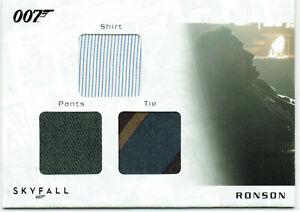 James Bond Autographs & Relics Triple Relic Card STC2 Ronson #003/200 LOW NUMBER
