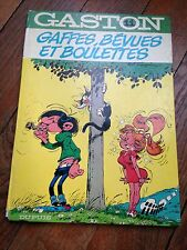 gaffes, bévues et boulettes EO (1973) gaston lagaffe par franquin côte BDM + 60e