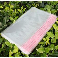 100Pcs 18X30cm Resealable Transparent Plastic Bags  + Self Adhesive Seal