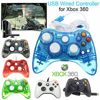 USB Long Wired GamePad Console Game Controller For Microsoft Xbox 360 Slim & PC