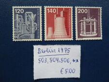 Berlin 1975, Freimarken: Industrie & Technik (I), Michel 503, 504, 506, **