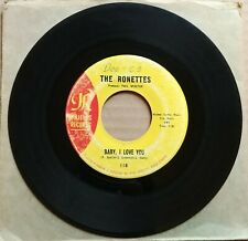 """THE RONETTES Baby I Love You/Miss Joan And Mr. Sam 45 7"""" R&B SOUL Vinyl 1963"""