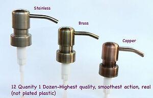 Soap Dispenser Pumps 12 Soap Dispensers w/collars, Mason Jars, Liquor Bottles