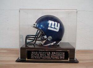 Denver Broncos Football Mini Helmet Case W/ A Super Bowl 50 Champions Nameplate