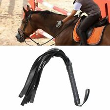 Black Faux Leather Horse Show Equestrian Flogger Spurs Strap Whip Riding Crops'