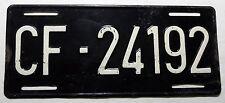 """Nummernschild US Forces in France von 1954 mit """"CF"""". S-3226."""