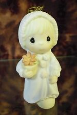 "Precious Moments-#531863 ""May Joy Bloom Within You"" Legend of Poinsetta ORN-NIB"