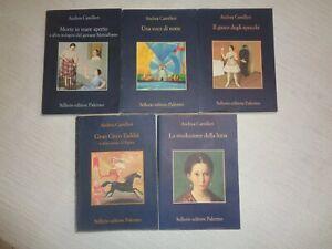 ANDREA CAMILLERI Lotto 5 libri SELLERIO tutti diversi (vedi foto) /497/