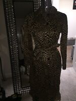 New With Tags Who What Wear Leopard Dress Xs Animal Print