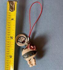 "2012 Sanrio Grey Hello Kitty Halloween MUMMY Mini 1 1/4"" Figurine Dangle Charm"