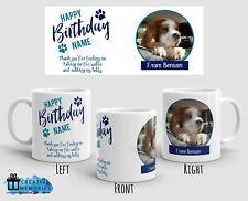 Personalised Mug - Birthday Mug - Dog Photo Mug - From the dog - Blue