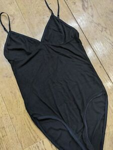 American Apparel Black Bodysuit Size Small