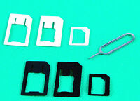 4 in 1 Nano Sim Karte Adapter und Micro Mikro Adapter für S3 S4 iPhone 4 5 6