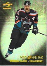 95/96 Pinnacle Summit Mad Hatter Wendel Clark 8 Islanders