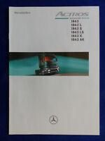 Mercedes LKW Actros 1843 LS AK - Technische Daten - Prospekt Brochure 08.1998