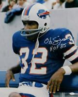 O. J. Simpson Signed Buffalo Bills 16x20 On Bench Photo W/ HOF- JSA W Auth *Wht