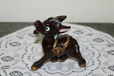 Vintage.Hand Painted.Red Ware.Smiley Donkey.Figurine.Japan