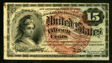 US Paper Money 1869 15c Fractional Currency NO RESERVE!