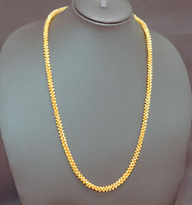 KAPA DESIGNER Yellow Gold Plated Chain Mens Necklaces