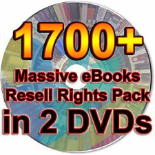 1700+ Massive eBooks Resell Rights Pack Collection Lot Make Money Online 2 DVDs
