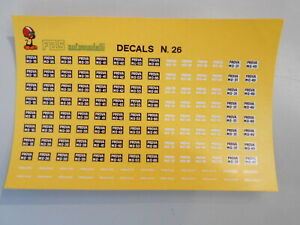 FDS26 by 109 DECALS TARGHE DI PROVA MODENA 1/43